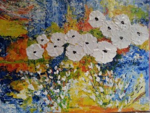 Christiane  Guerry: White flowers