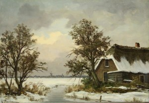 Willem Pasman: Hollands winterlandschap